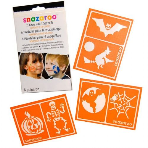 Face Paint Stencils Creepy Trick Treat Fancy Dress